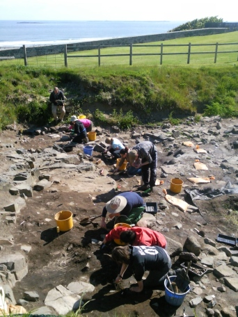 Cleaning back in Trench 3
