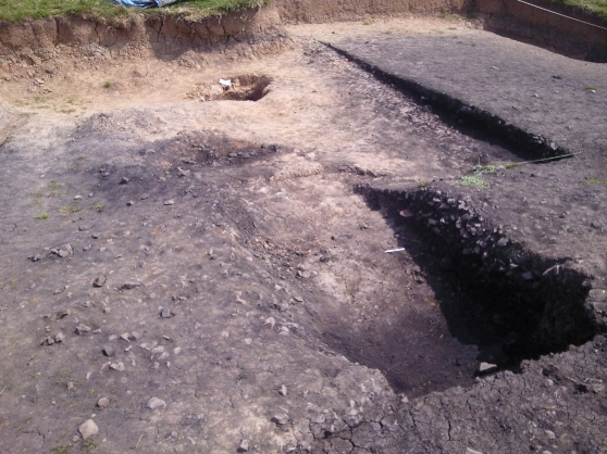 Trench 6, Mound 1, with the hearth removed.