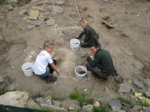 Work in Trench 3, Bamburgh Castle