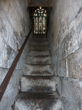 Hexham Abbey from the seventh century cript steps