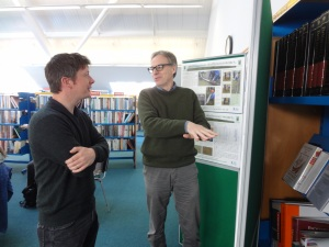 Director Graeme Young  explaining the site