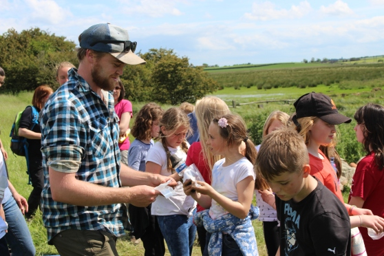 2-Project Officer, Tom Lally giving the children an introduction to the site..jpg