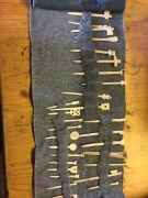 Replica bone pins made by David Constantine