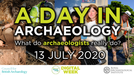 A Day in Archaeology twitter card people